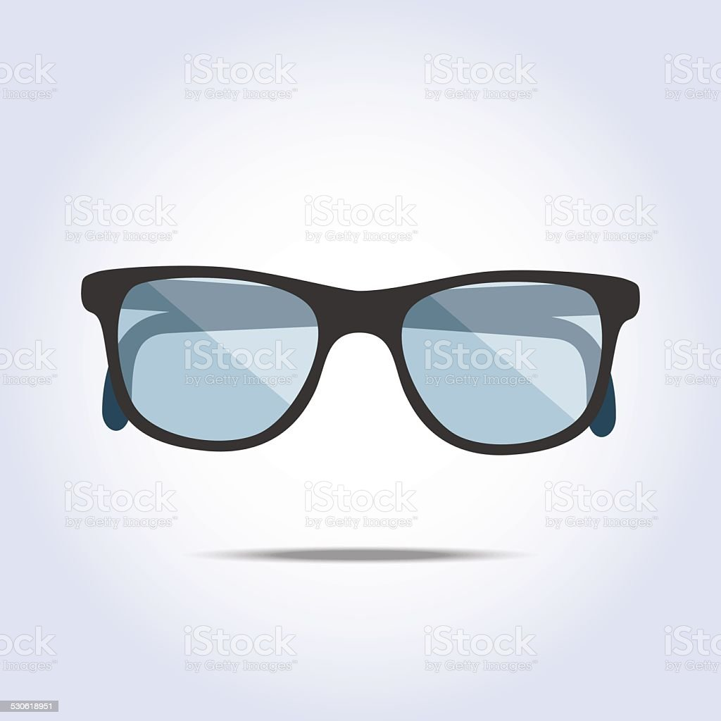 Glasses icon on gray background vector art illustration