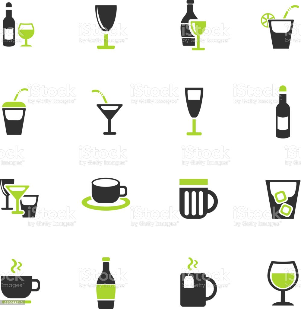 glasses icon set vector art illustration