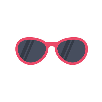 glasses icon vector illustration cartoon style.