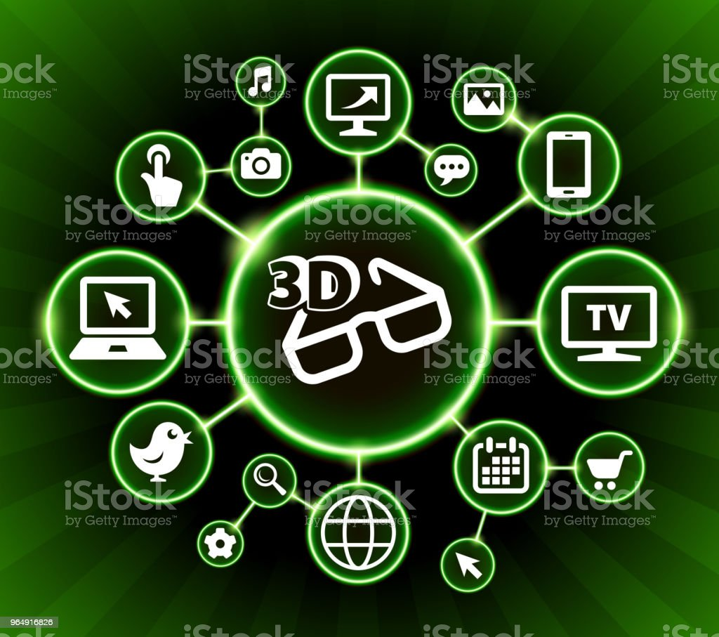3D Glasses Internet Communication Technology Dark Buttons Background royalty-free 3d glasses internet communication technology dark buttons background stock vector art & more images of arrow symbol