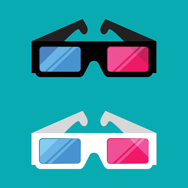 3D glasses isolated on a colored background – Vektorgrafik