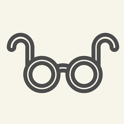 Glasses line icon. Spectacles optical symbol outline style pictogram on white background. Medical or reading eyeglasses for mobile concept and web design. Vector graphics