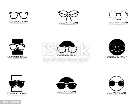 Glasses logo and symbol vector