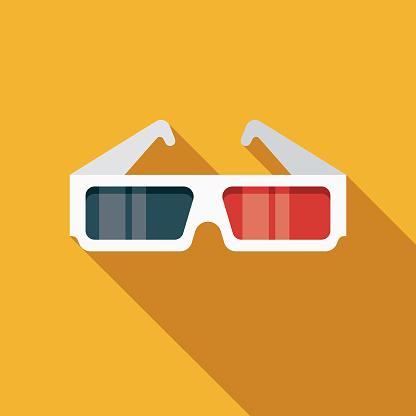 3-D Glasses Movie Icon