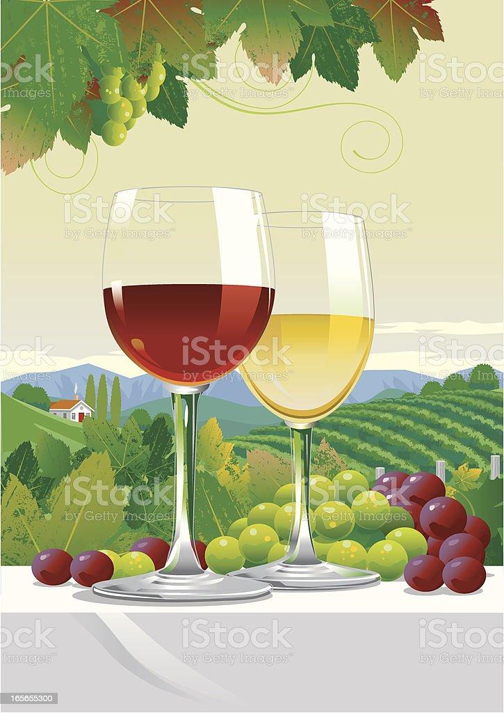 Glasses of Wine royalty-free stock vector art