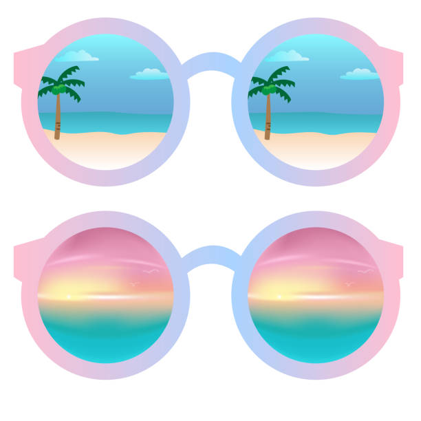 Best Sunglasses Reflection Illustrations, Royalty-Free