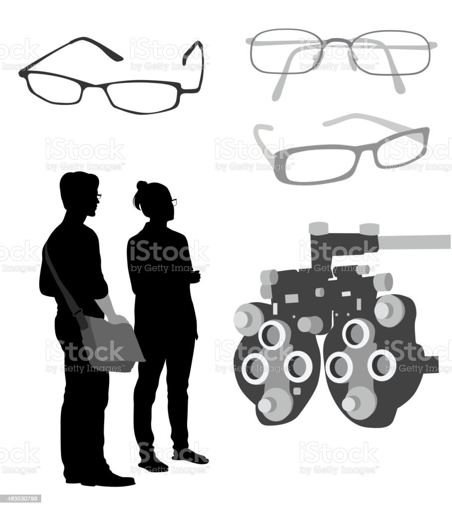 Glasses Optician royalty-free glasses optician stock vector art & more images of adult