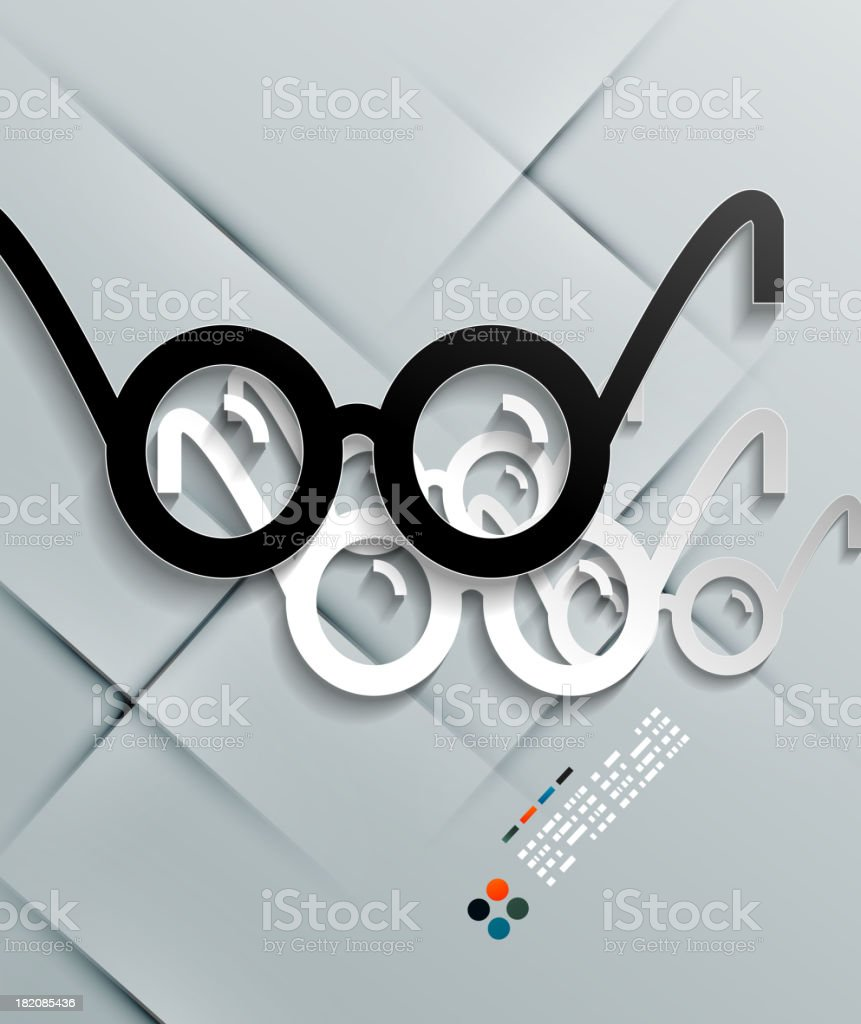 Glasses paper modern vector design royalty-free stock vector art