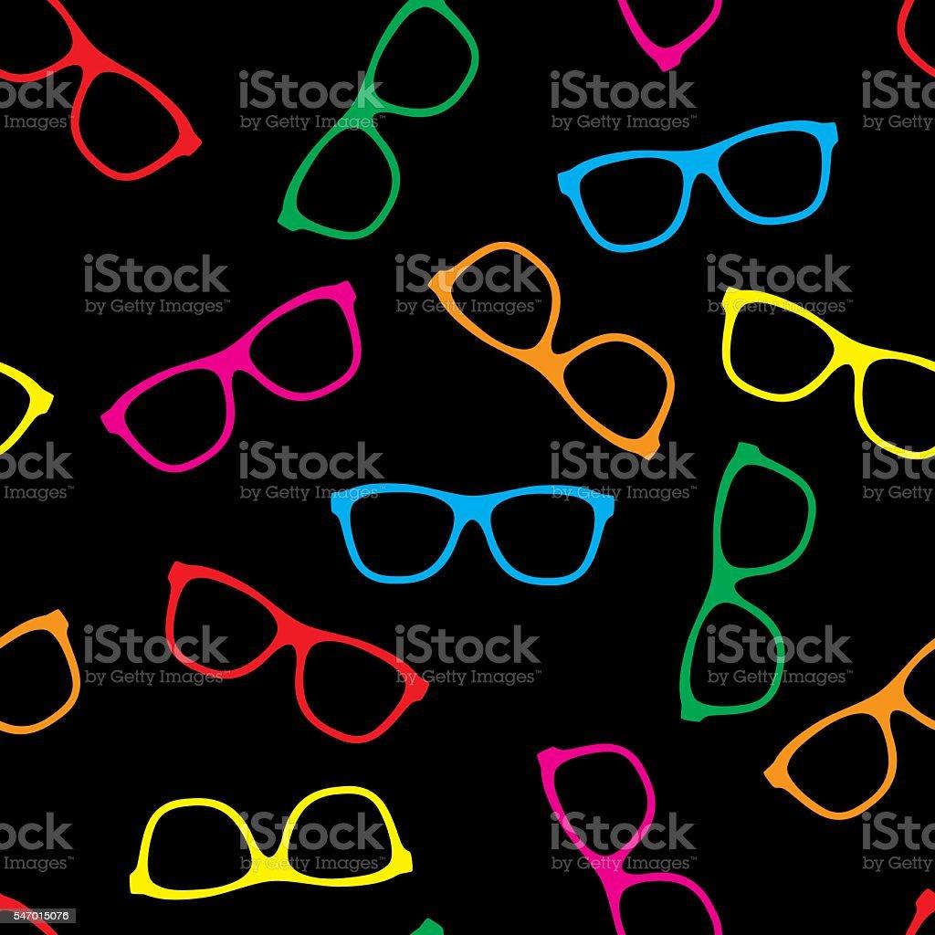 Glasses Pattern Colorful vector art illustration