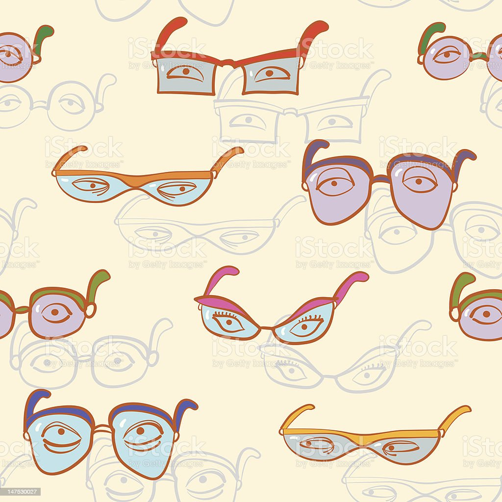 Glasses Pattern. royalty-free glasses pattern stock vector art & more images of art