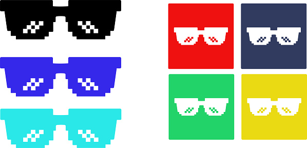 Glasses Pixel - Illustration
