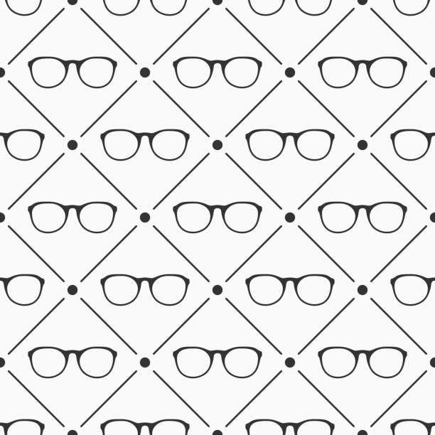brille musterdesign. - mosaikglas stock-grafiken, -clipart, -cartoons und -symbole