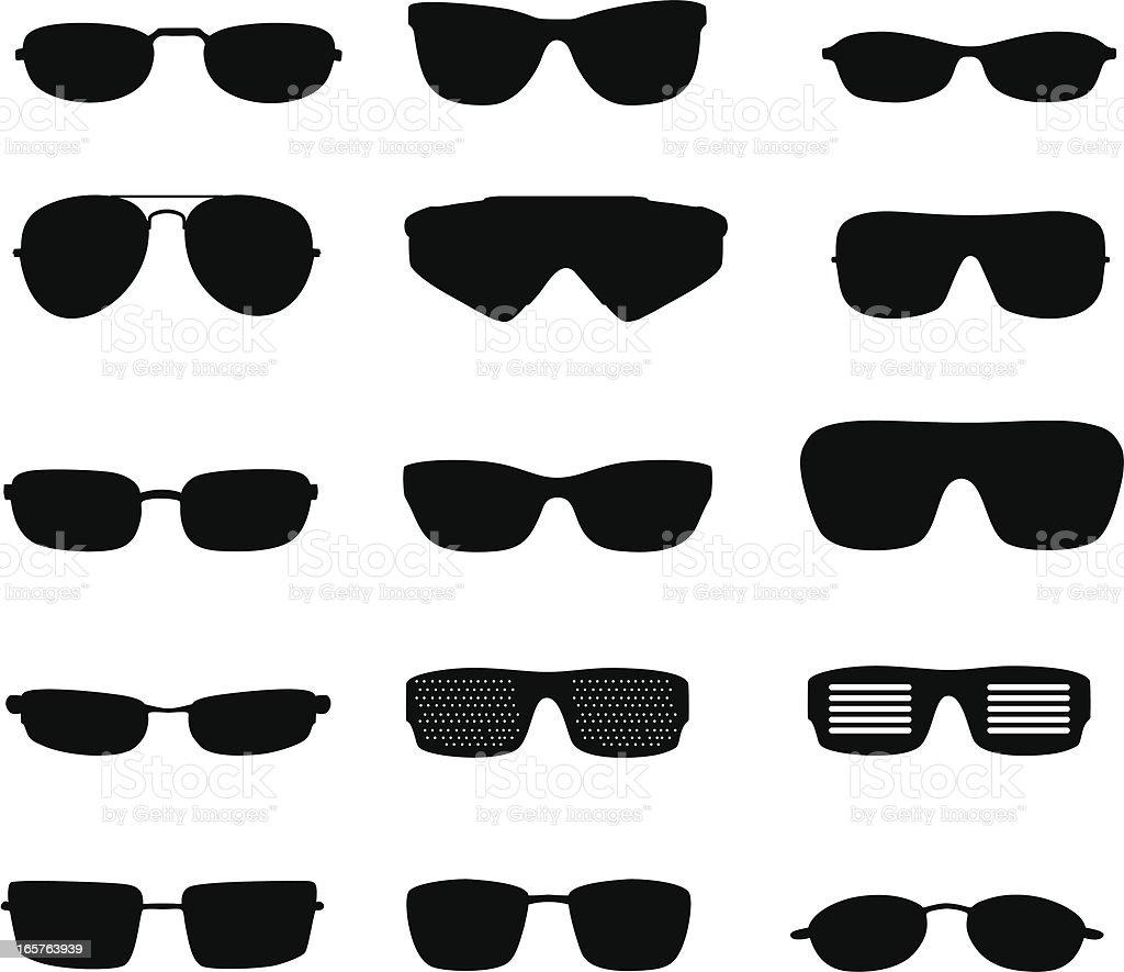 Glasses Silhouette vector art illustration
