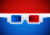 3D infinity red blue glasses.