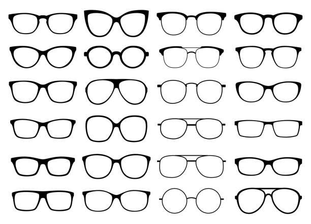 Glasses vector collection. Sunglasses set vector art illustration