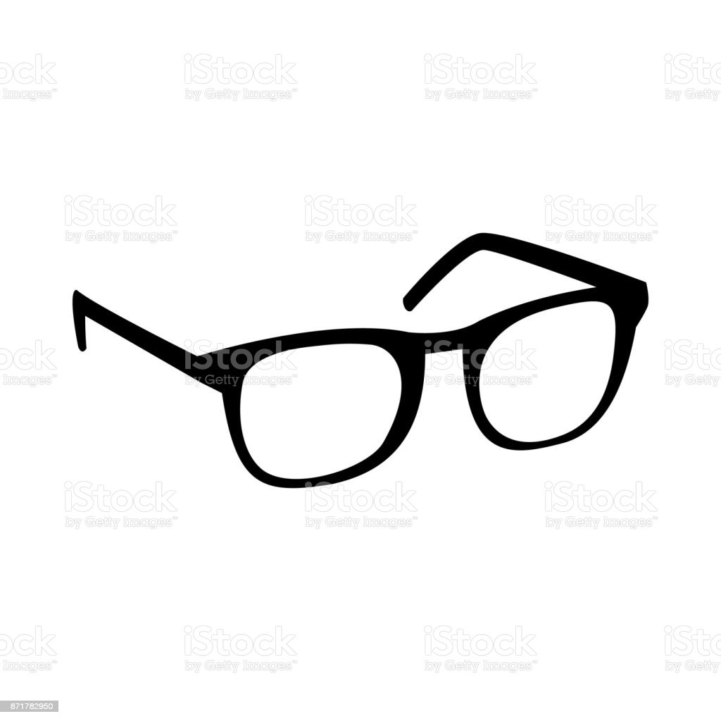 Glasses Vector Icon vector art illustration