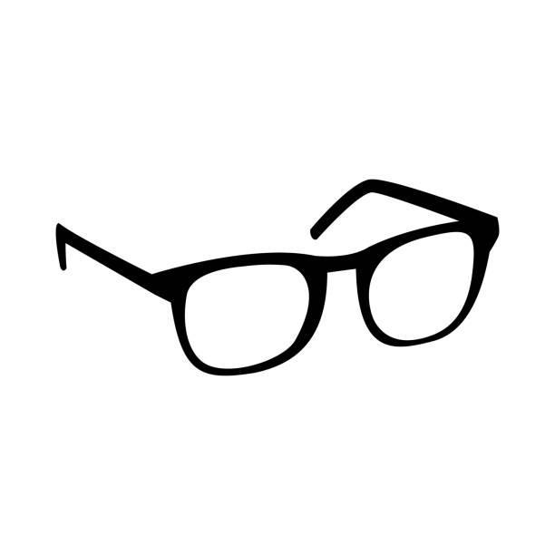 glasses vector icon - okulary stock illustrations