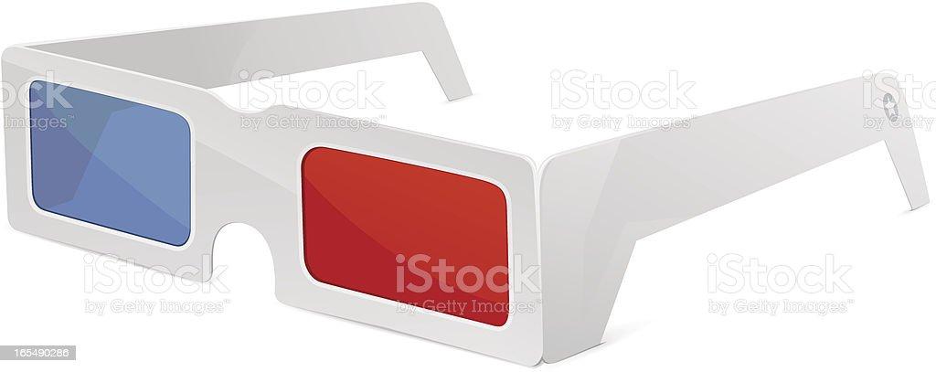 3D glasses royalty-free stock vector art
