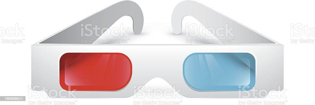 3D glasses vector art illustration