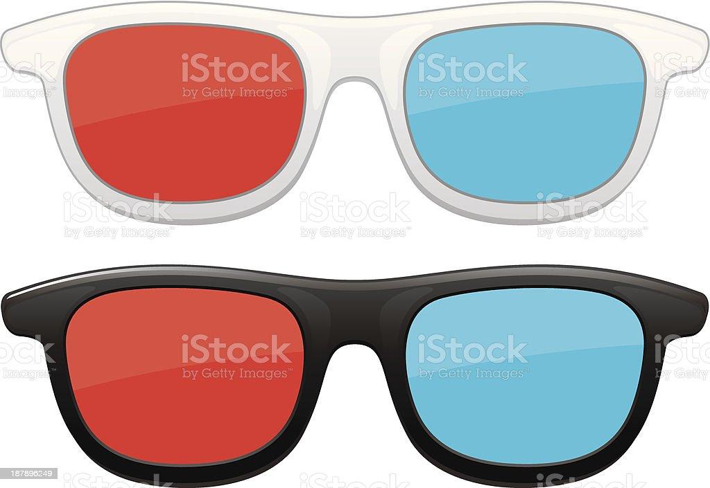 3 D-Brille – Vektorgrafik