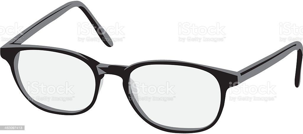 Glasses vector art illustration