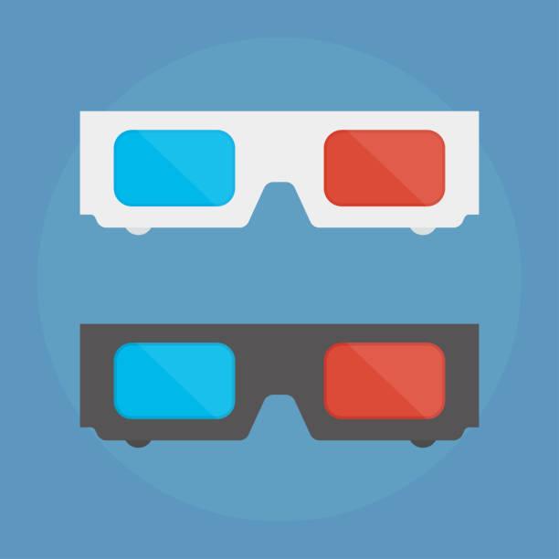 3D-Brille-Vektor-illustration – Vektorgrafik