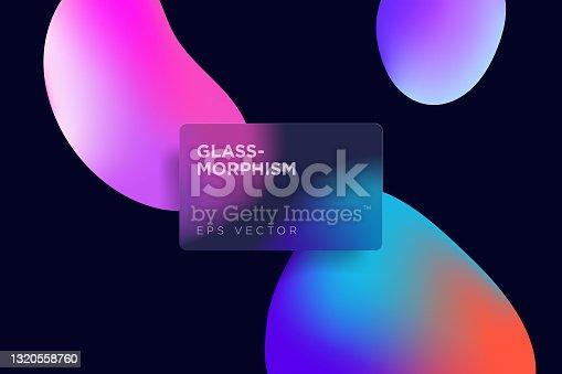 istock Glassmorphism style vector illustration 1320558760