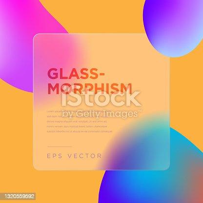 istock Glassmorphism style vector illustration 1320559592