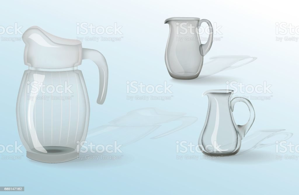 Glassware, jug, glass, cup. Decorative household items royalty-free glassware jug glass cup decorative household items stock vector art & more images of art