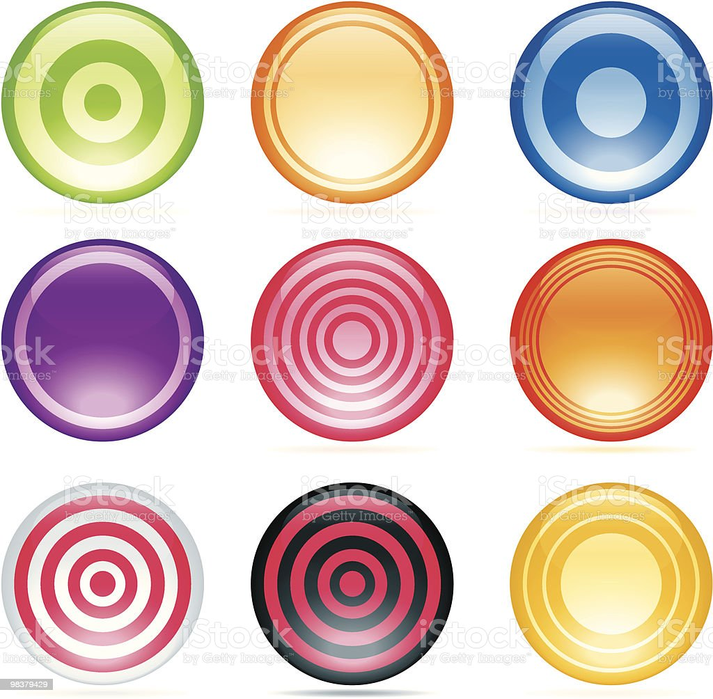 Glassy, Shiny Buttons royalty-free glassy shiny buttons stock vector art & more images of circle