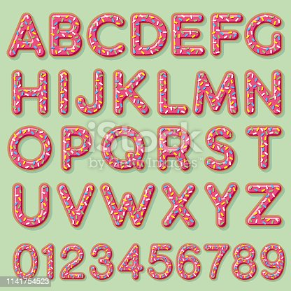 A cute frosted donut letter. File is built in CMYK for optimal printing and can easily be converted to RGB. Background is a separate layer and easy to delete.