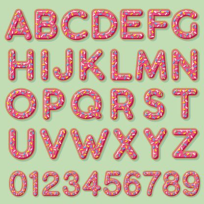 Glazed Strawberry Donut Alphabet