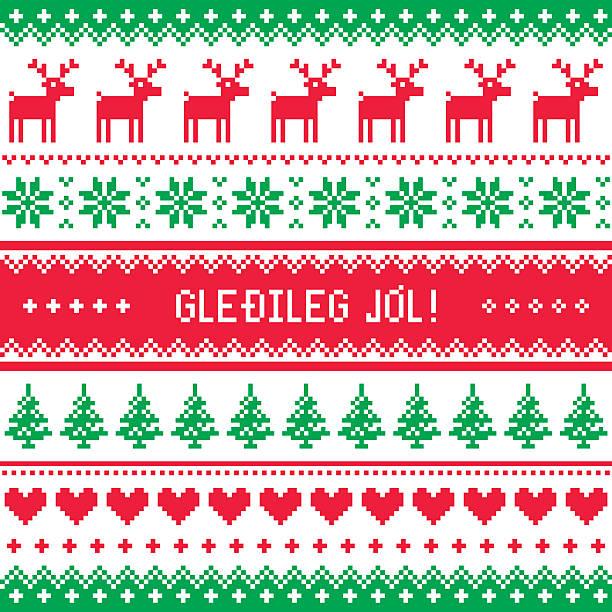 gledileg jol merry christmas in icelandic pattern greetings card stock vector art 584782604 istock - Merry Christmas In Icelandic