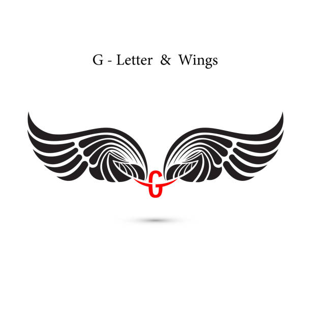 Silhouette Of The Tattoo Letter G Clip Art Vector Images Illustrations