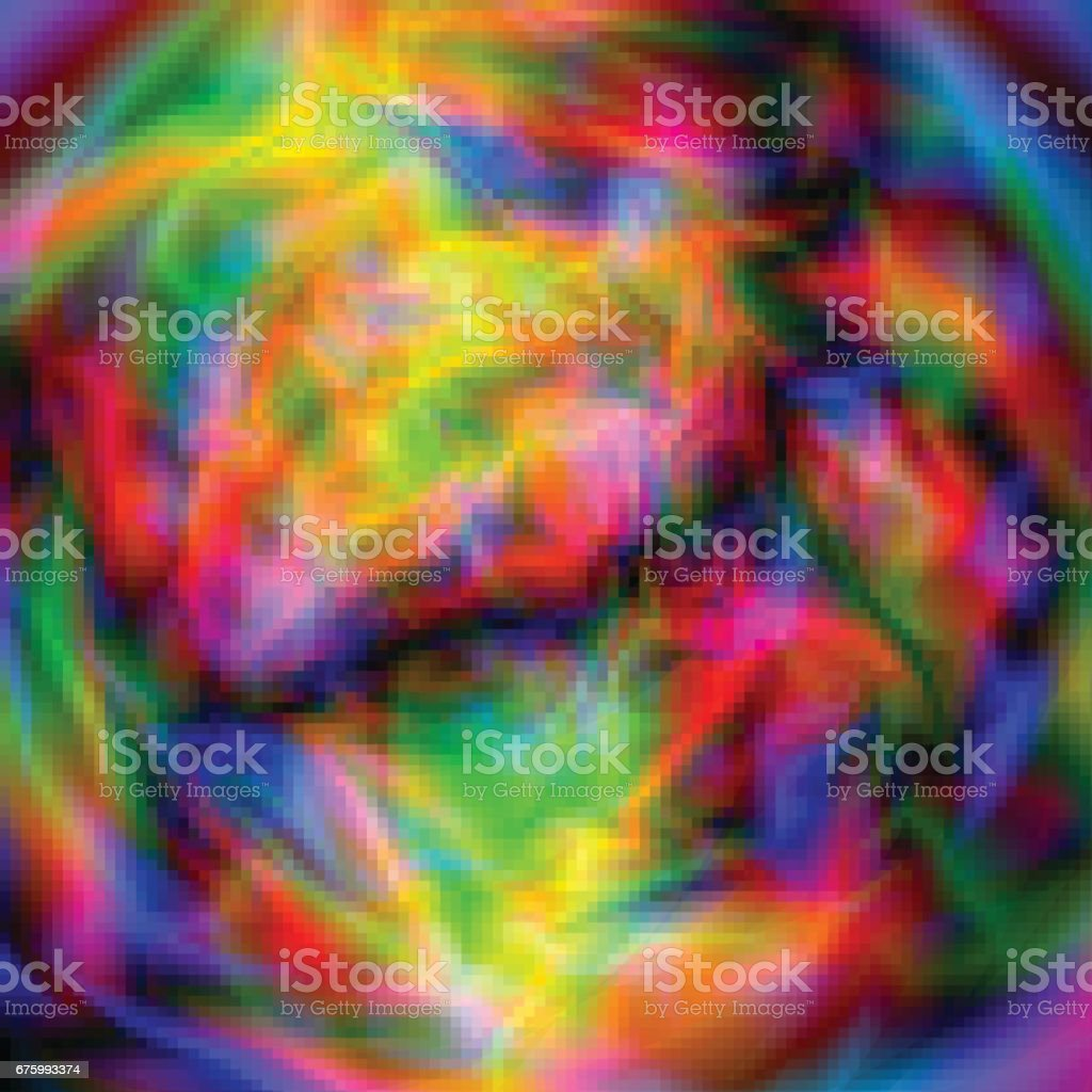 Glitch Abstract Background Glow Or Space Alien Planet Or Texture