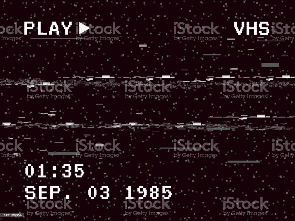 Glitch Camera Effect Retro Vhs Background Old Video Template No ...