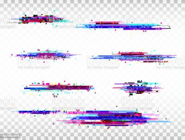Glitch color elements set digital noise abstract design color pixel vector id937387816?b=1&k=6&m=937387816&s=612x612&h=omw3zfomqob189a53hzq6vcddu ih0lhivguryj4obi=