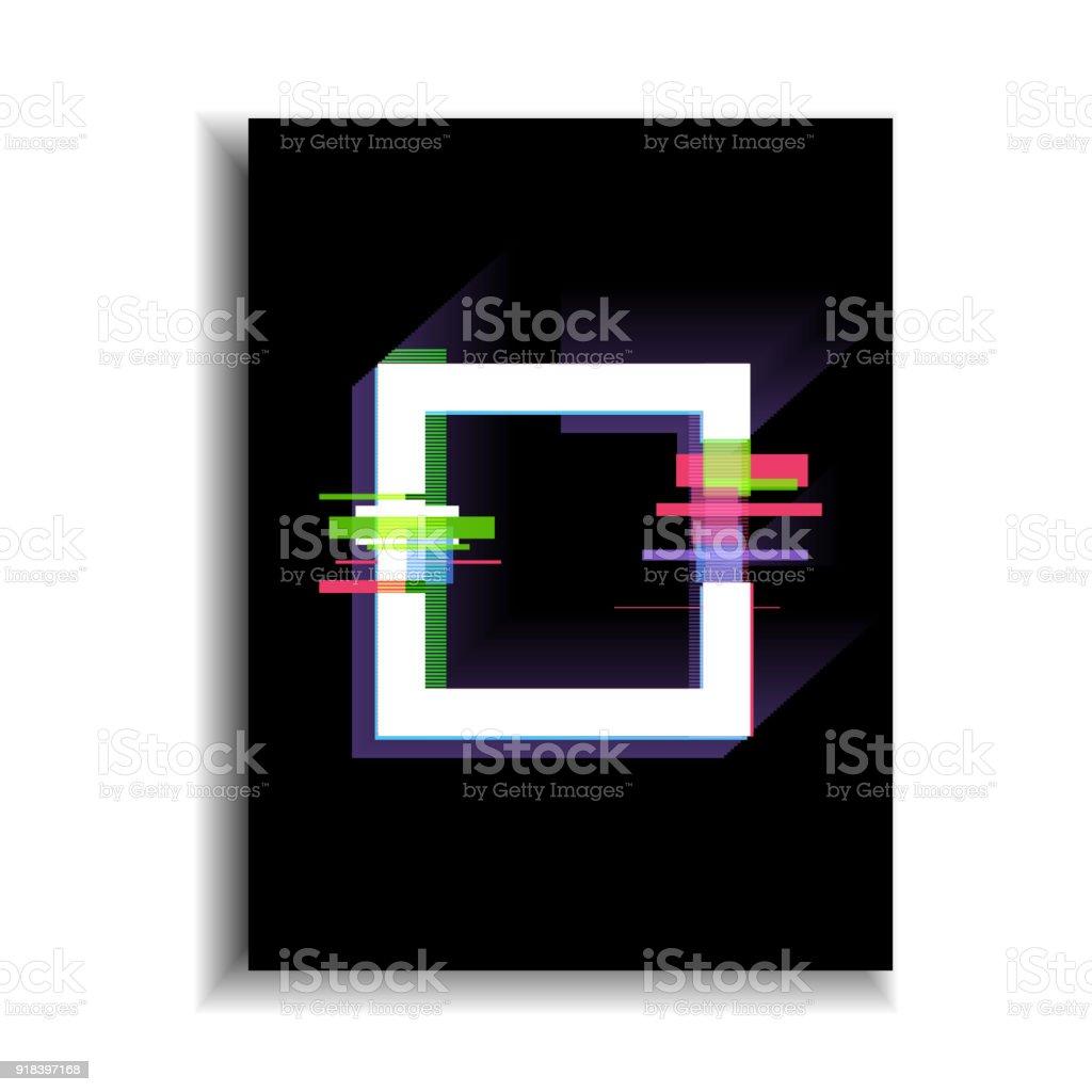 Glitcheffekt Rahmen Banner Moderne Designelemente Vektorillustration ...
