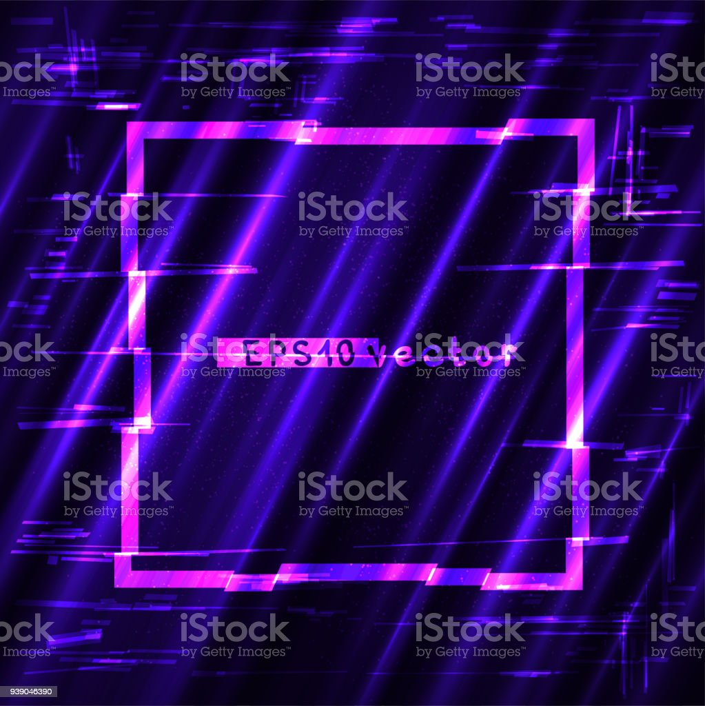 Glitch Quadratische Licht Gestalten Vorlage Stock Vektor Art und ...