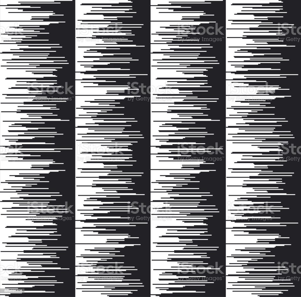 Glitch texture vector illustration. Abstract stripe seamless pattern. Motif for surface design, background, wrapping paper, print and web design. vector art illustration