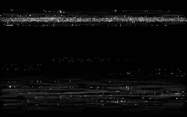 glitch vhs tło. efekt przewijania retro. stary efekt taśmy z białymi poziomymi liniami. szablon odtwarzania analogowego. zniekształcenia kasety wideo. ilustracja wektorowa - efekty fotograficzne stock illustrations