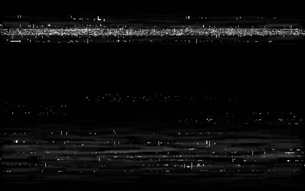 Glitch VHS backdrop. Retro rewind effect. Old tape effect with white horizontal lines. Analog playback template. Video cassette distortion. Vector illustration Glitch VHS backdrop. Retro rewind effect. Old tape effect with white horizontal lines. Analog playback template. Video cassette distortion. Vector illustration. photographic effects stock illustrations