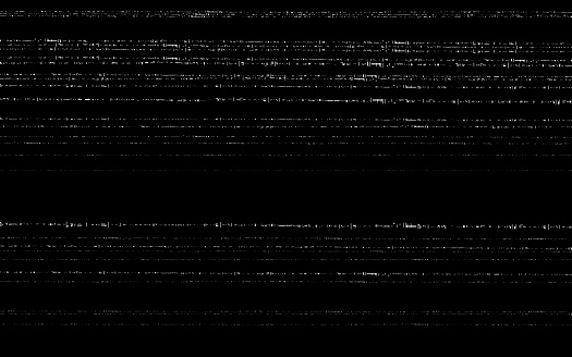 Glitch VHS template. Old video effect on black backdrop. Horizontal random white lines. Retro tape texture with distorted elements. Analog videotape. Vector illustration