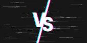 istock glitch white versus VS letters 1265165768