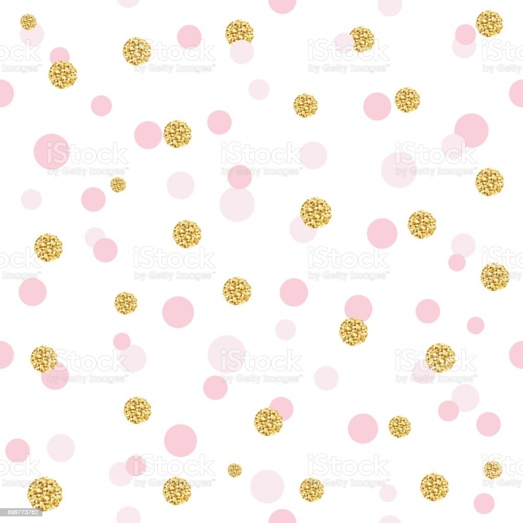 Glitter Confetti Polka Dot Seamless Pattern Background