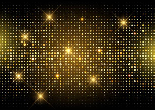 Glitter gold disco lights background Glittery gold disco lights background disco lights stock illustrations