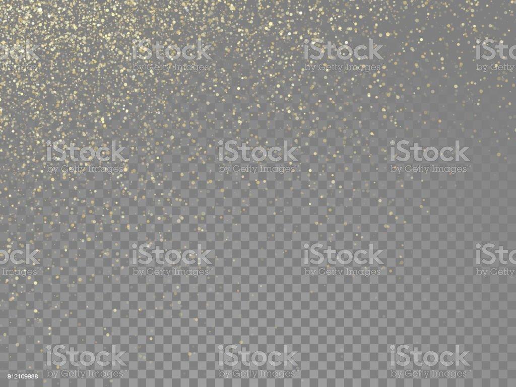 ゴールドのキラキラ粒子と星塵ラメまたはベクトル透明な背景に魔法落下金きらびやかな効果 ロイヤリティフリーゴールドのキラキラ粒子と星塵ラメまたはベクトル透明な背景に魔法落下金きらびやかな効果 - お祝いのベクターアート素材や画像を多数ご用意