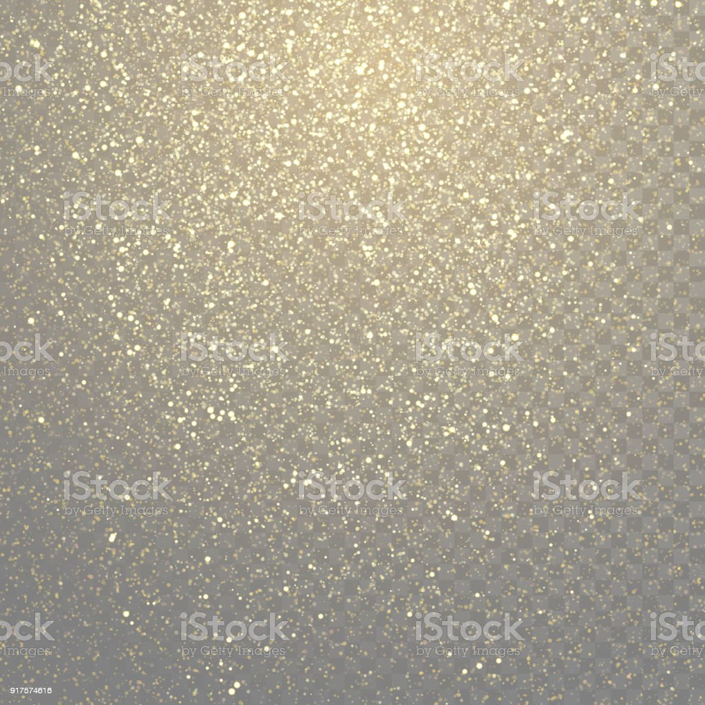 Glitter gold particles light shine effect on transparent vector background. Sparkling gold glitter particles effect, golden glittering space star dust royalty-free glitter gold particles light shine effect on transparent vector background sparkling gold glitter particles effect golden glittering space star dust stock illustration - download image now