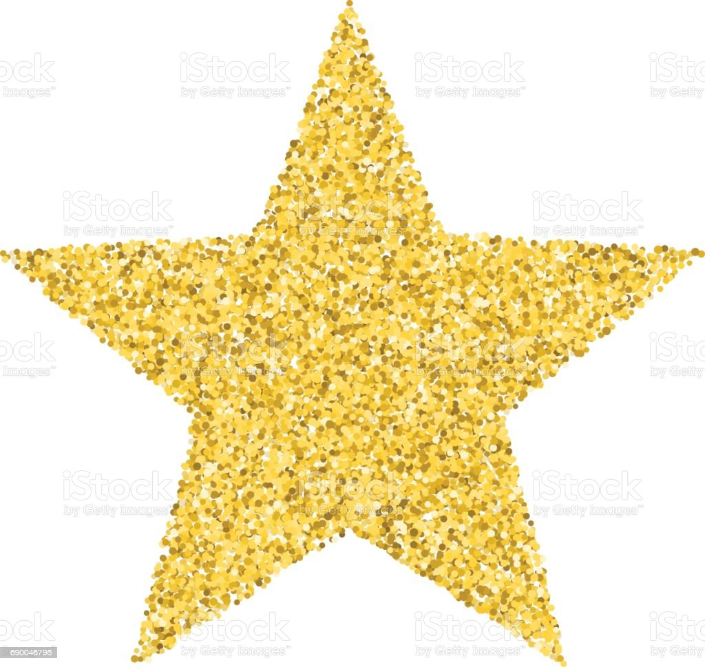 glitter golden star stock vector art amp more images of art