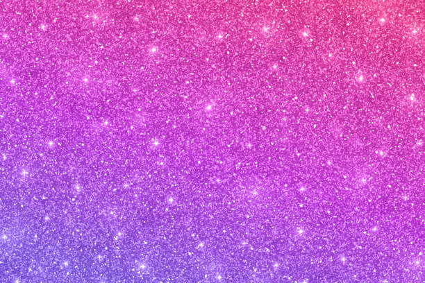Glitter horizontal texture with pink violet color effect vector art illustration